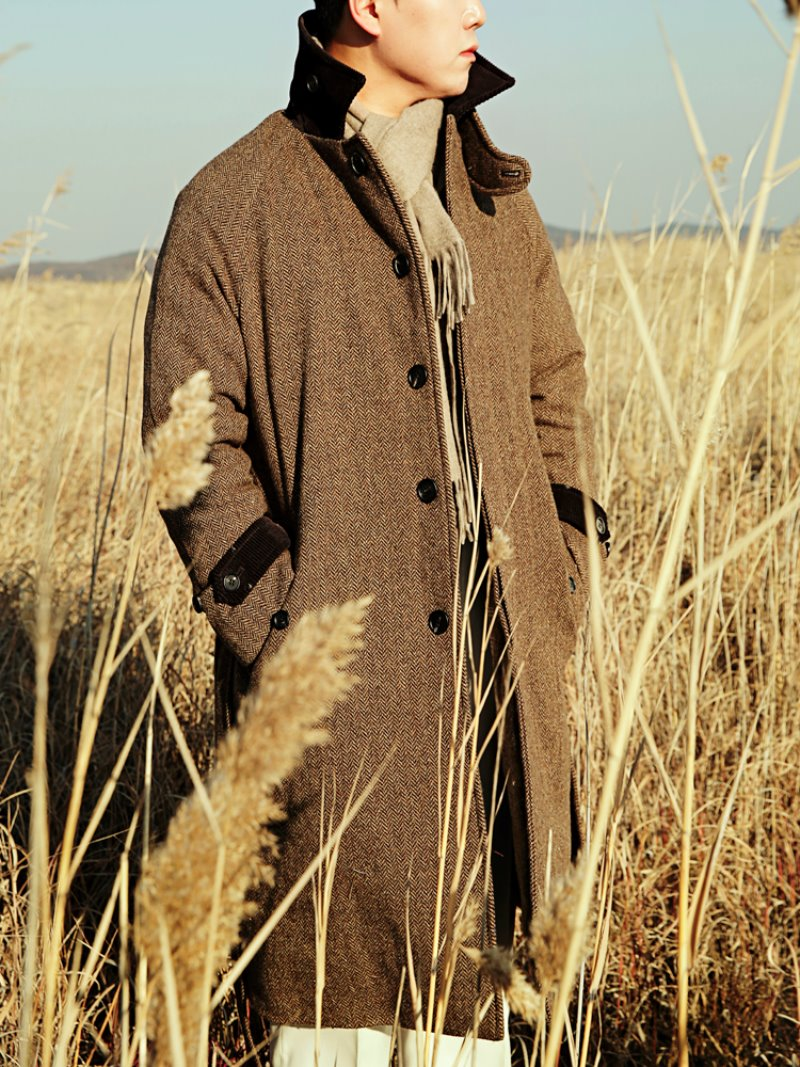 FRODO Wool Tweed Duck Down Coat